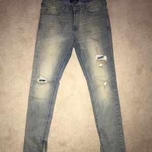 Men's PacSun Zipper Skinny Jeans